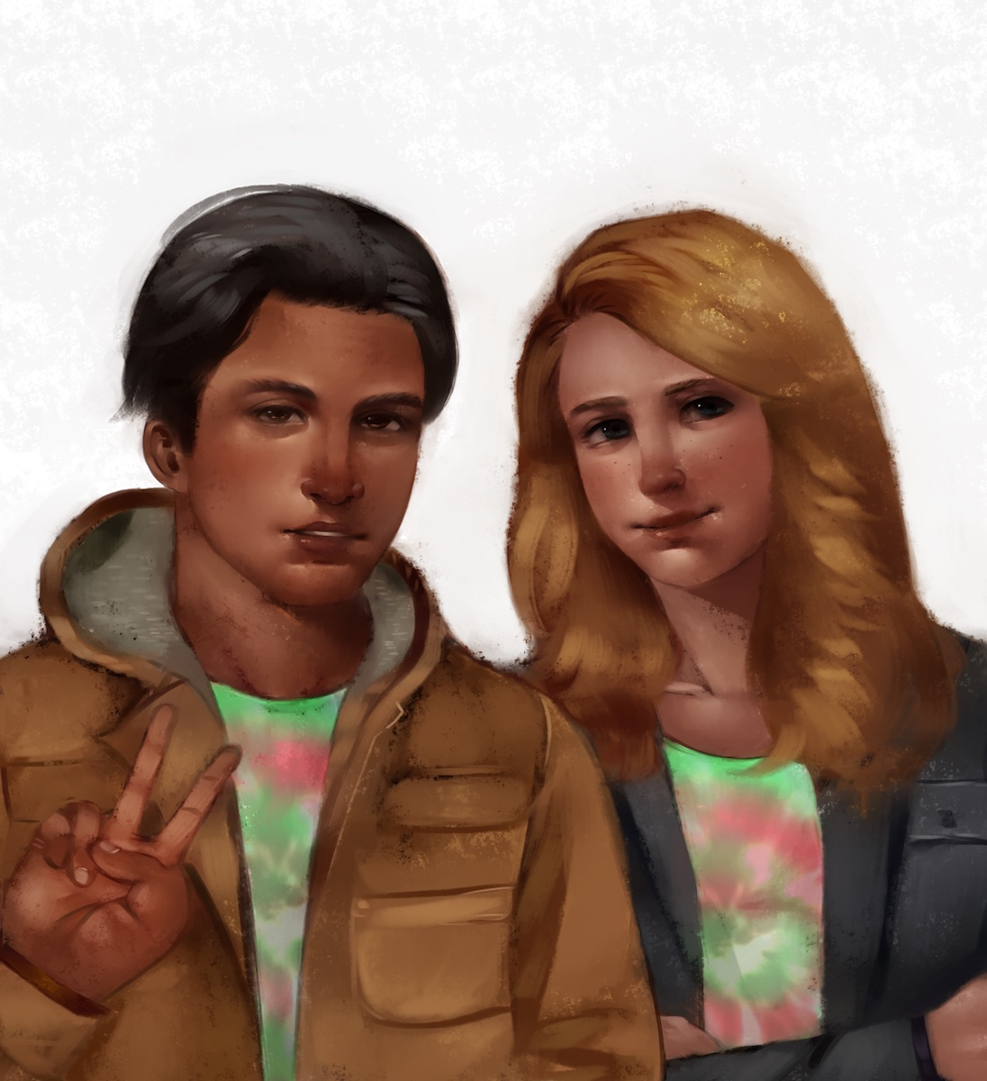 Commissioned Artwork of Marcus and Jessica!